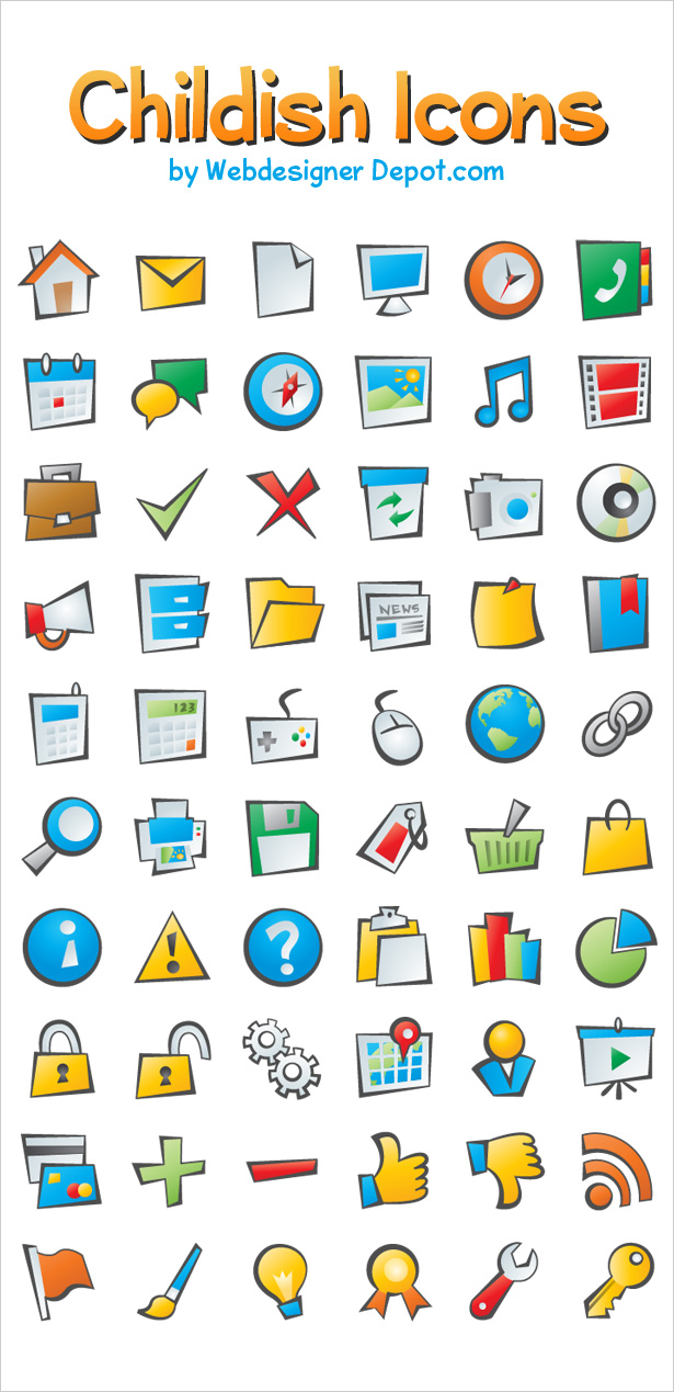 60 Exclusive Childish Icons Pack